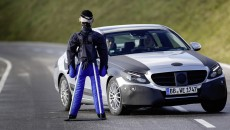 Michael Schumacher tests the new C-Class Brake Assist