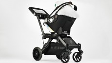 Orbit Baby G2 Car Seat and Double Helix Stroller side