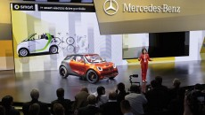 Mercedes-Benz and smart at the Mondial de l'Automobile 2012 in Paris.Dr. Annette Winkler, Head of smart, presenting the smart forstars.