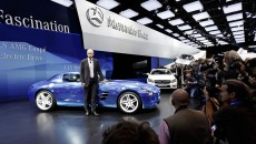 Mercedes-Benz Premiered the SLS AMG Coupé Electric Drive, the smart BRABUS electric drive and the B-Class Electric Drive concept at the 2012 Paris Motor Show