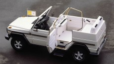 With and without cupola: The popemobile based on the Mercedes-Benz 230 G and introduced in 1980 had a plastic cupola that could be removed for use in fine weather.