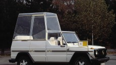 Safety first: After the attempt on the pope's life in 1981, the cupola remained in place at all times when the Holy Father was chauffeured around in his G-Class popemobile.