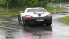 Mercedes SLS AMG Black Series Spy Photo rear spoiler