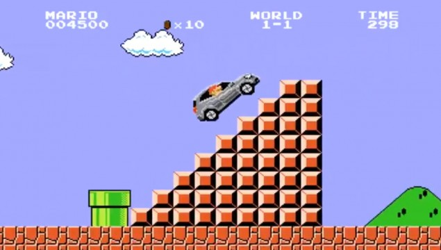 Super Mario Drives the GLA in Japan