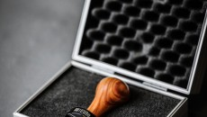 Torr Tamper Rosewood Handle and Black Titanium Piston in case