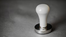 Torr Tamper White Metal Handle front view