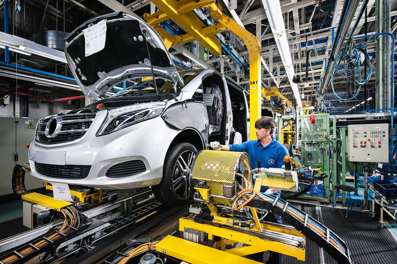 Mercedes-Benz V-Class Production